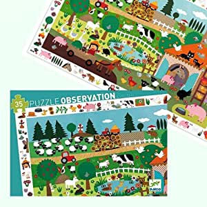 Puzzle Djeco Observation La Ferme 35 pcs Enfants 3 ans +