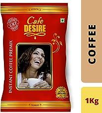 Café Desire Instant Coffee premix 1 kg (New Launch - Red Range).