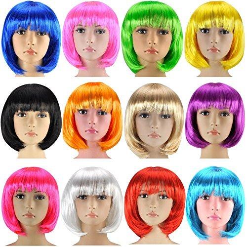 Kurzhaar Perücke für Damen, Herren und Kinder ( Bob blond) (Blonde Perücke Für Kinder)