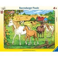 Ravensburger-06646-Pferde-auf-der-Koppel