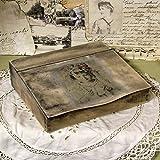 Vintage Sekretär 28x26,5x7cm Organizer Ablage Schreibtisch Shabby Landhausstil