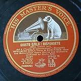 """78 rpm 12"""" BENIAMINO GIGLI & EZIO PINZA giusto cielo rispondete / tu che a dio spiegasti , lucia di lammermoor / donizetti"""