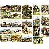 40Stück Vintage-Postkarten-Set, Motiv Weltkarte, X Karton Versandtaschen, Postkarten, verschiedene Designs, 2Stück mit je 40Stück, Old World, 4x 6Zoll