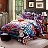 Best FADFAY Beddings - FADFAY 4Pcs Bohemian Bedding Boho Bedding Queen King Review