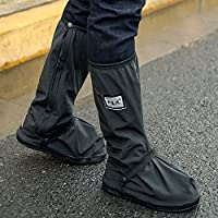 MQFORU Cycle Waterproof Overshoes, West Biking Cycling Warm Windproof Shoe Covers Rain Snow Boot Protector Feet Gaiters