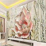 ShAH 3D Wallpaper Arte Mural Papel Tapiz Personalizado Rose Canicas De Decoración Del Hogar Moderno Salón Tv Fondo Papel Tapiz Papel Pintado Wallpaper Fresco Mural 200cmX150cm