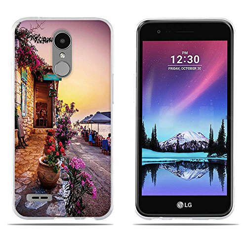 DIKAS Handyhülle für LG K10 2017, 3D Mode Muster Transparente Silikon Clear TPU Fashion Kreative TPU Soft Gummi Silikon Abdeckung Telefon Fall für LG K10 2017 / LG LV5 (5.3
