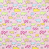 Fabulous Fabrics Flanell Tiere 2 rosa — Meterware ab 0,5m