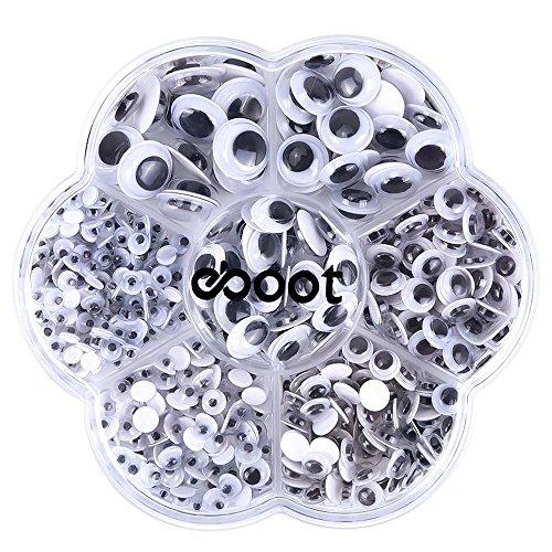 SelbstklebendeGemischt Googly Wackeln Augen DIY Scrapbooking Kunsthandwerk Spielzeug Zubehör, 500 Stück (Verschiedene Größen)