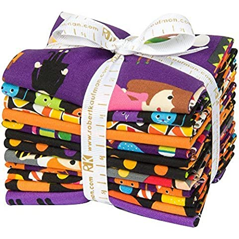 Ann Kelle Pumpkin Fun 12 Fat Quarter Bundle Robert Kaufman Fabrics FQ-1080-12 by Robert Kaufman Fabrics - Quarter Fat Fq Bundle