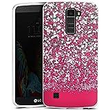 LG K10 LTE Hülle Silikon Case Schutz Cover Glitzer Glanz Glitter