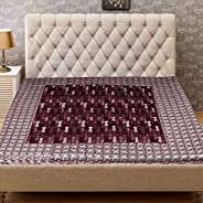 Kuber Industries Checkered PVC Reversible Food Mat Bed Server - Multicolour, 90x90x1 cm