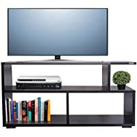 AAROORA Gaya-H3 Engineered Wood TV Table Unit Display Storage Cabinet Rack with Decor 3 Shelf (Wenge Finish)