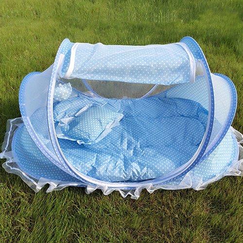 Homeofying bambino neonato pieghevole da viaggio sonno materasso letto zanzariera tenda presepe