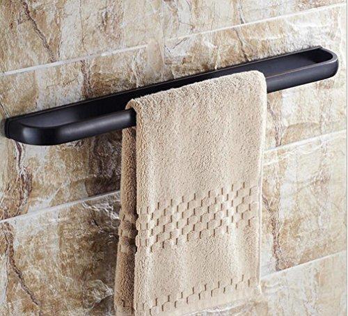 SSJDCF Handtuchstange/Handtuch Volles Kupfer antik schwarz einpolig Handtuchhalter -