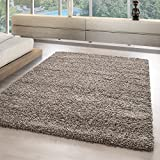 Tappeti Shaggy e tappeti monocromatico soggiorno Shaggy morbido top venire offerta 5555, Dimensione:200x290 cm, colore:Taupe