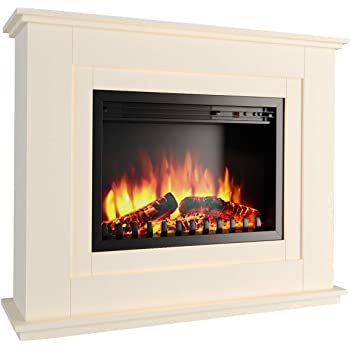 Home Kitchen Electric Fireplace Suite 1 8kw With Wood Top And