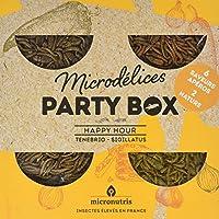 Microdélices Party Box Happy-Hour Mélange de Grillons/Vers de Farine Natures/Aromatisés 200 g