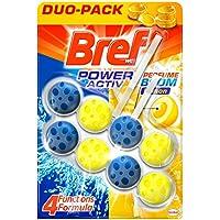 Bref Power Activ Duplo Limón Cesta WC - Paquete de 2 x 50 gr - Total: 100 gr