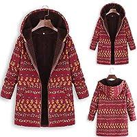 Hanomes Damen Mantel,Damen Winter Warm Hoodie Mode Blumendruck mit Kapuze Taschen Mantel Vintage Drucken Jacket... preisvergleich bei billige-tabletten.eu
