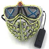 SOUTHSKY LED-mask WD, fullt ansikte, neon el tråd lyser upp för halloween festival kostym cosplay julfest