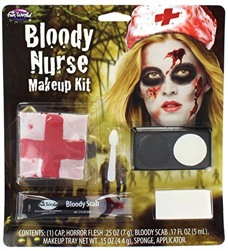 Kit Halloween Nurses Fancy Dress Accessory Zombie Dead New by Wicked ()