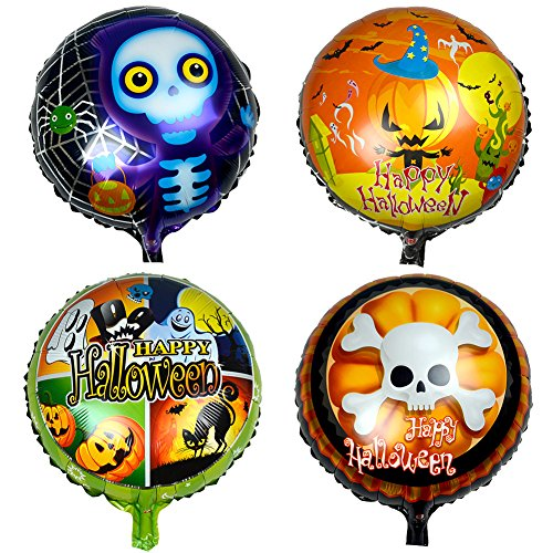 12 Happy Halloween Aluminium Folie Skell Kürbis Spider Haunted House Party Supplies Dekoration