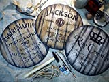 Custom sign inspired by whiskey barrel tops | Personalized Gifts for men | Rustic wall decor | Hand-painted theme on a worn out, distressed wood plaque | Home Bar decoration | Christmas Gift