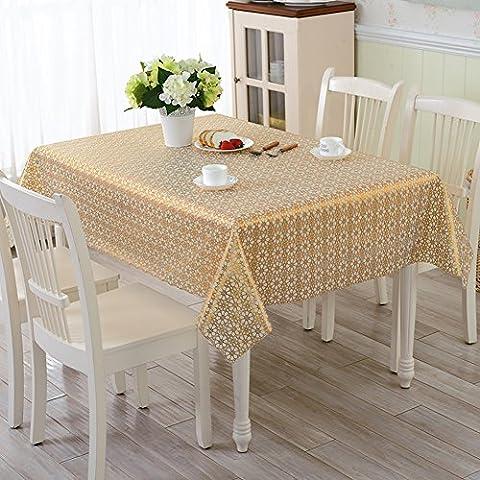 PVC Pastoral Waterproof Anti-oil Anti-oil Plastic Table Cloth,Soft Glass Cloth European-style Coffee Table Mat-G 133x177cm(52x70inch)