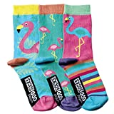 United Oddsocks - 3er Set Mädchen-Socken -Flamingo- Gr. 30 - 38