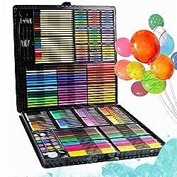 Buntstifte, Buntstifte, Marker, Ölpastellkreiden, Radiergummi und mehr!Dieses 123Pcs Art Set enthält so ziemlich alles, was Ihre Kinder brauchen, um ihre eigenen Meisterwerke zu schaffen! Es wird Ihrem kleinen Picasso erlauben, Hunderte von Stücken z...