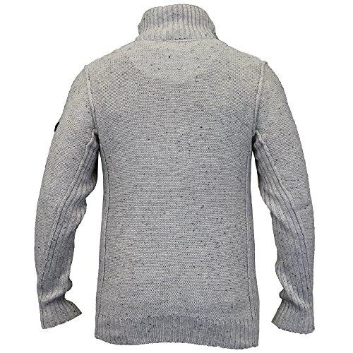 Herren Wollmix Pullover Dissident Strickpulli Pullover Top Marl Freizeit Winter Stein - 1A8288