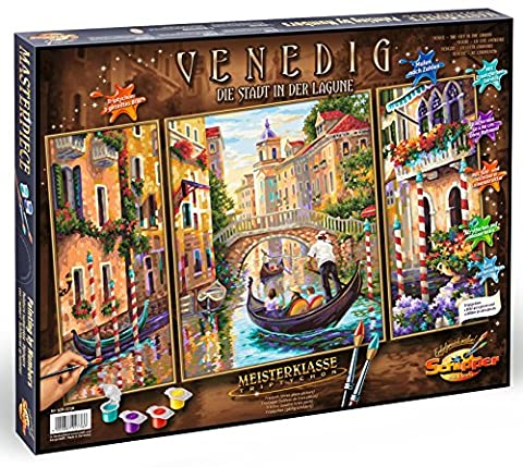 Schipper 609260736 - Malen nach Zahlen - Venedig, Die Stadt in der Lagune, Triptychon, 50 x 80 cm