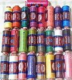 25x bobines de fil machine à broder en polyester assortis et couleurs pastel pour Brother Babylock Janome Singer Pfaff Husqvarna Bernina Machines britannique...