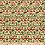 Wilmington Holiday Lane Damast Quilt-Stoff, Hellbraun,
