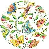 """Entertaining con 12,7 cm 20 piezas Papel """"servilleta"""" parvaneh's Garden, Multi-color, multicolor, Salad Plate"""