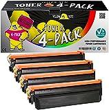 Yellow Yeti 4er Pack 410X Premium Toner kompatibel für HP Laserjet Pro MFP M377dw M477fdw M477fnw M477fdn M452dn M452dw M452nw CF410X 6.500 Seiten CF411X CF412X CF413X 5.000 Seiten [3 Jahre Garantie]