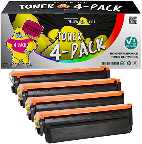 Yellow Yeti 410X Paquete de 4 Cartuchos de Tóner compatibles para HP Laserjet Pro MFP M377dw M477fdw M477fnw M477fdn M452dn M452dw M452nw | CF410X 6500 páginas CF411X CF412X CF413X 5000 páginas