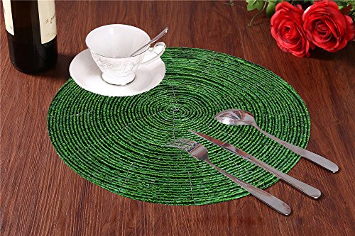 set di 4 - perline verde tovaglietta