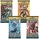 Pokemon: Sun & Moon 4 Sealed Booster Packs - Sun and Moon Trading Cards
