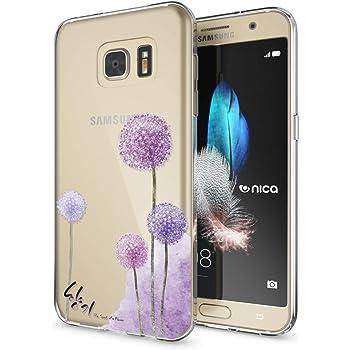 08bde05d99f26f NALIA Handyhülle kompatibel mit Samsung Galaxy S7, Slim Silikon Motiv Case  Hülle Crystal Schutzhülle Dünn Durchsichtig, Etui Handy-Tasche Back-Cover  ...