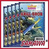 SAHAWA® Frostfutter 5x 100g Blister Krill grob , verpackt mit Trockeneis, Zierfischfutter, Süßwasser, Discus, Barsche, Guppys, Rote Mückenlarven (Krill grob)