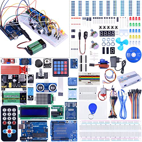 Kuman Full Ultimate Starter set and Lots of Accessories Elektronik Projekt Baukasten R3 Mikrocontroller Board und Zubehöre K27