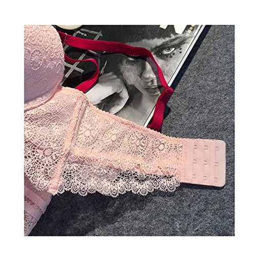 Laixing Alta qualità Sexy Women Lace Underwear Push Up Bra Sets & Panty Thin Underwire Bra Pink
