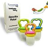 bestbeans Baby Smoothie Maker Fruit Tétine Sucette Pour Fruits Et Légumes en différentes couleurs + capuchon de protection (L, rose)