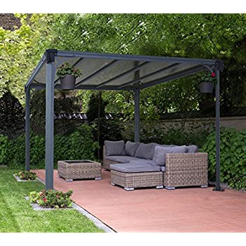 aluminium pavillon berdachung gazebo milano 300 308x308 cm sommer pavillon und. Black Bedroom Furniture Sets. Home Design Ideas