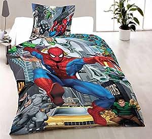 Spiderman Parure de lit 1 personne 140x200 cm