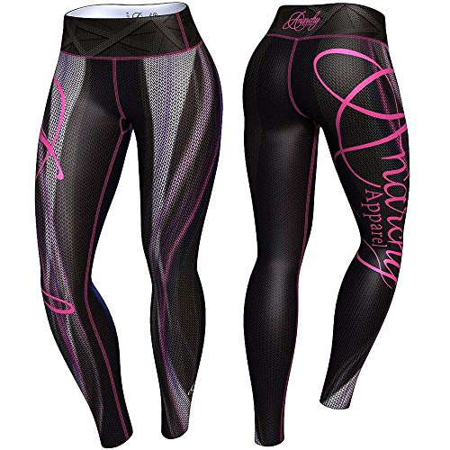 anarchy-apparel-leggings-plasma-fitness-gym-aerobic-hosen-pants-compression-gre-m