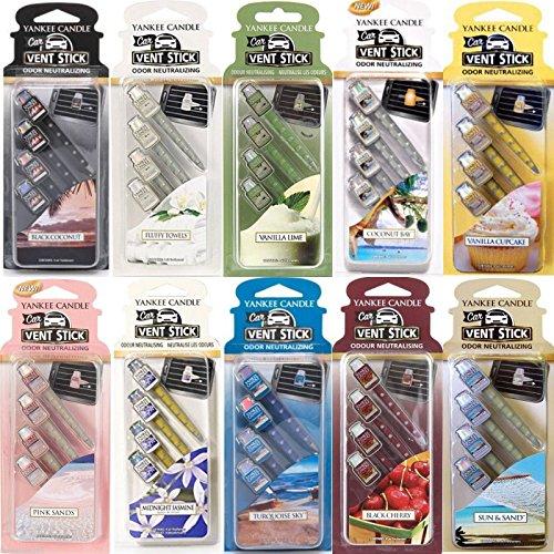 Deodorante in stick Yankee Candle autentico da applicare alle bocchette di ventilazione dell'auto, 2pacchetti che contengono 8deodoranti