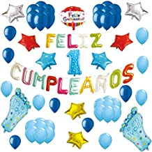 COTIGO-Globos Feliz Cumpleaños Happy Birthday Fiesta Party Docoración para Niños 108 Piezas Globo Látex